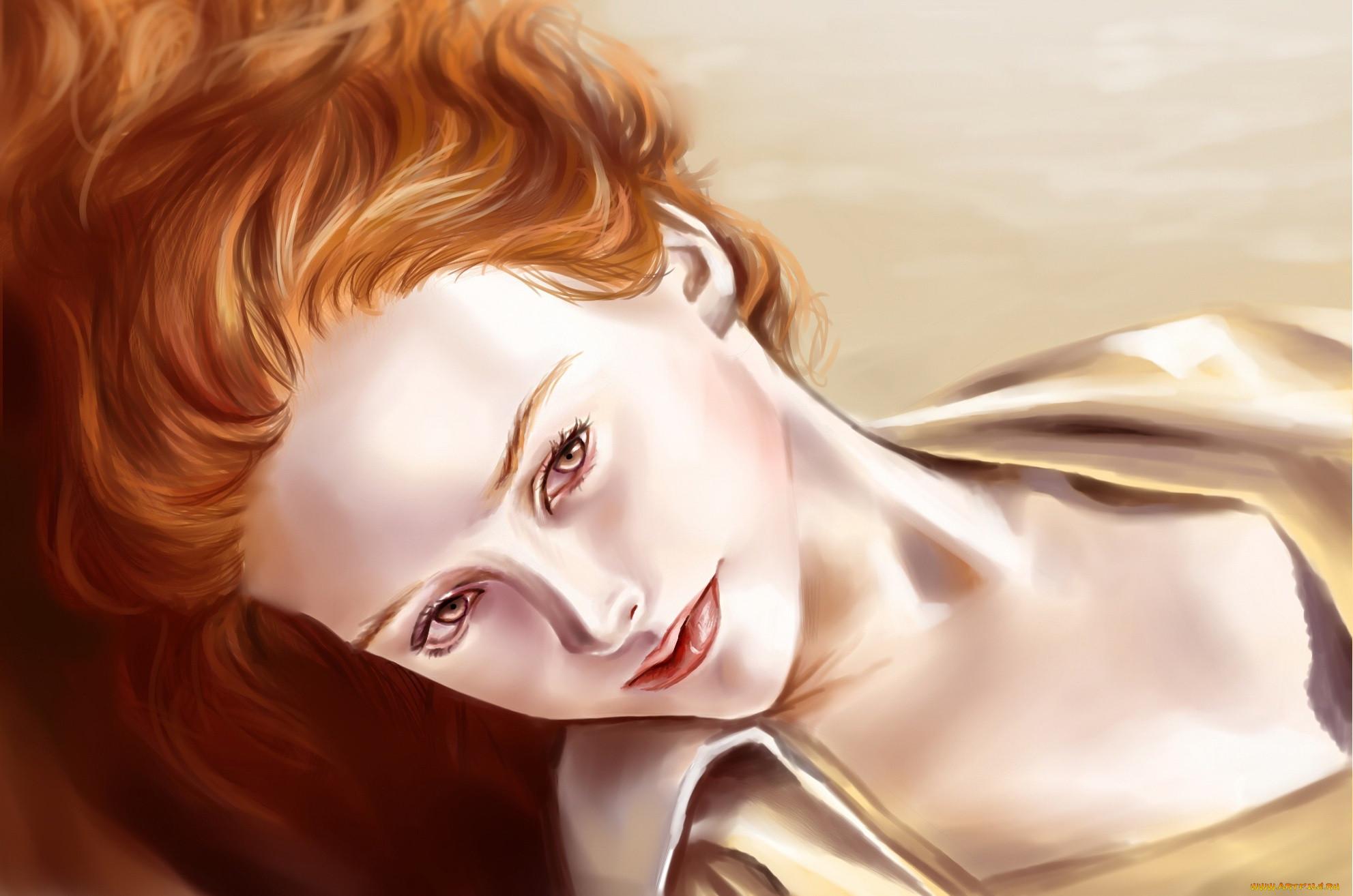 Рыжие волосы картинки рисованные